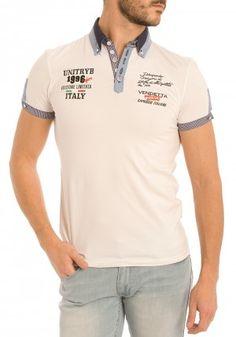 Polos de Unitryb para Hombre en Pausant.com Polo Rugby Shirt, Polo Tees, Camisa Polo, Denim T Shirt, Tee Shirts, Moda Junior, Polo Shirt Outfits, Agadir, Manish