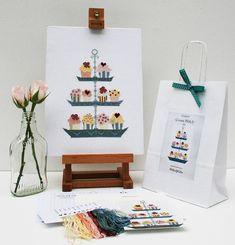 Cupcake Cross Stitch Kit by www.notonthehighstreet.com