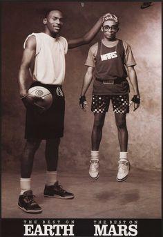 Michael Jordan + Spike Lee Vintage Nike/Air Jordan Ads Back in. Basketball Tricks, Jordan Basketball, Basketball Pictures, Love And Basketball, Basketball Jones, College Basketball, Michael Jordan Poster, Michael Jordan Pictures, Jordan Noir