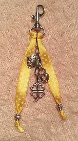 Kľúčenky - kľúčenka, ozdoba na tašku - bodkovaná - 5119447_