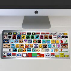 Have the Pokemon world come together and give your battlestation a fresh new look with these crafty keyboard decals. Each key is represented by the starting letter of a Pokemon, making it only possible for a true Pokemon Master to decode! #pokemon #kawaii