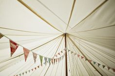 "bunting in the theme colors? love it! soooo ""in"" right now"