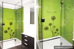 Go back to nature with this shower splashback idea - Completehome Shower Splashback, Splashback Ideas, D House, Locker Storage, Innovation, Mirror, Bathroom, Design Ideas, Furniture