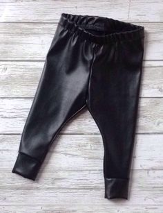 A personal favorite from my Etsy shop https://www.etsy.com/ca/listing/266739687/ready-to-ship-faux-leather-baby-leggings