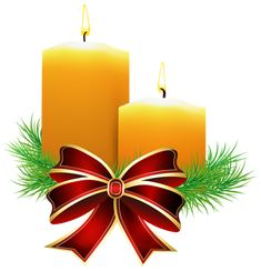 Christmas Candles Transparent PNG Clip Art Image
