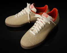 Limited edition Adidas Gazelle sneakers with hemp uppers.