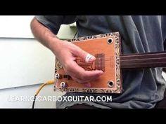 Fingerpicking options for Cigar Box Guitar - YouTube
