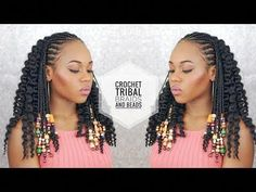 Have Fun With Braids Some Of The Best African Hairstyles African Braids Hairstyles Pictures, French Braid Hairstyles, Afro Hairstyles, Braids With Curls, Braids With Beads, Twist Braids, French Braided Bangs, Loose French Braids, Loose Curly Hair
