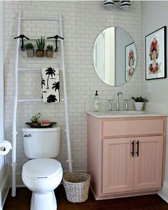 pale pink bathroom accessories. 20 reasons to be entirely obsessed with pink bathrooms  Pale Pink white and Rattan