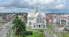 The St. George's Cathedral (photo compliments of the Guyana Chronicle), is one of the largest wooden buildings in the world at 143 ft tall.