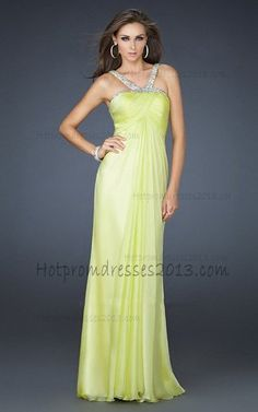 Discount Ruched Bodice Strapless Yellow Long Prom Dresses http://www.hotpromdresses2013.com/