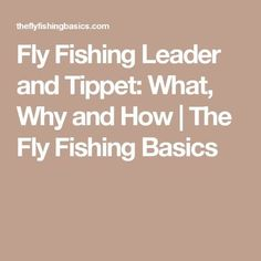 Have you wondered what a fly fishing leader and tippet are and how they're used? I'm here to help answer your questions on what, why and how to use fly fishing leader and tippets in your fly fishing excursions. Trout Fishing Tips, Bass Fishing Lures, Fishing Tricks, Fishing Videos, Fishing Stuff, Fishing Knots, Fly Fishing Basics, Fishing For Beginners, Fly Tying Patterns