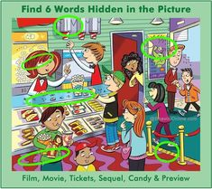 Find 6 hidden words in the picture. Hidden Words In Pictures, Hidden Picture Puzzles, Writing Pictures, Picture Writing Prompts, Word Pictures, Hidden Images, Silly Pictures, Picture Composition, Six Words
