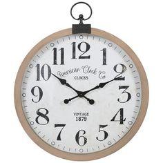Brown Wall Clocks, Small Wall Clocks, Clock Decor, Wall Decor, Kitchen Wall Clocks, Wall Clock Online, Rustic Wood Walls, Vintage Wood, Metal Walls
