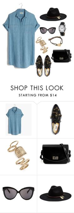 """""""summer outfit"""" by juliabartyzel on Polyvore featuring moda, Madewell, Moschino, Topshop, Linda Farrow, Seafolly i Burberry"""