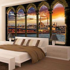 VLIES FOTOTAPETE Himmel Stadt Dubai Skyliner TAPETE WANDBILDER XXL Wohnzimmer 48