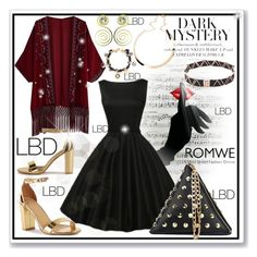 """""""www.romwe.com-XXVII-"""" by ane-twist ❤ liked on Polyvore featuring contest, LittleBlackDress, LBD and Fall2016"""