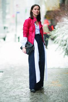 Lena Lademann luce un outfit de Desigual en las calles de Manhattan - New York City. Foto:Timur Emek