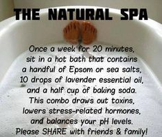 Detox bath- I had the worst cold ever and then I found this little gem. Afterwards I felt so much better! No more aches and I could breath better too. Pin win.
