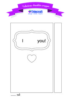 Free Valentine's Day DIY Chocolate Wrapper Template http://www.trimcraft.co.uk/articles/free-valentine-s-day-diy-chocolate-wrapper-template