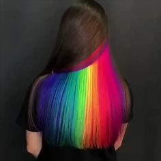 Top Grade Human Hair Wigs, Human Hair Closures, Human Hair Bundles and Peekaboo Hair Colors, Cute Hair Colors, Hair Dye Colors, Cool Hair Color, Peekaboo Highlights, Amazing Hair Color, Rainbow Hair Highlights, Kids Hair Color, Vivid Hair Color