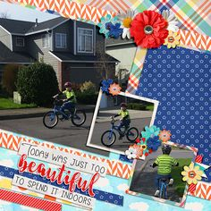 Beautiful Day, a digital scrapbooking kit by lliella designs , is a fun, happy kit that is perfect to scrap your day at the park.