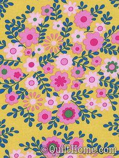 Crazy Love PWJP062-Mustard Fabric by Jennifer Paganelli