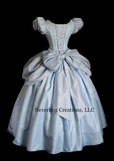 Cinderella All Blue Custom Costume by NeverbugCreations on Etsy Cinderella Outfit, Disney Princess Dresses, Princess Ball Gowns, Disney Dresses, Cinderella Costume Adult, Dress Outfits, Fashion Dresses, Dress Up, Black Velvet