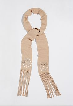 faux suede scarf with laser cut design in taupe (original price, $16) available at #Maurices