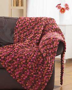 Chunky crochet blanket free pattern on ravelry