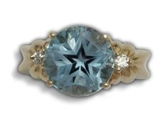 Double Bow Star Topaz Ring by C. Kirk Root Designs