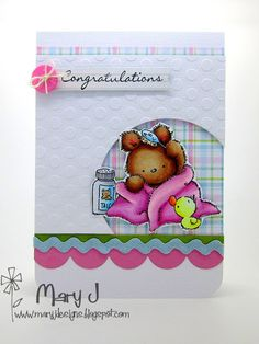 Baby card using Lili of the Valley stamps