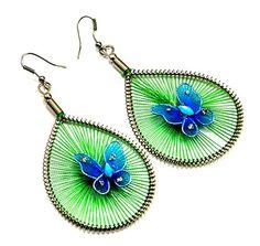 A Pair of Indian White Metal Cute Butterfly Design Hippie Danglers Earrings Krishna Mart India http://www.amazon.com/dp/B00UNCL8TW/ref=cm_sw_r_pi_dp_NMxEvb0Z5TAXR
