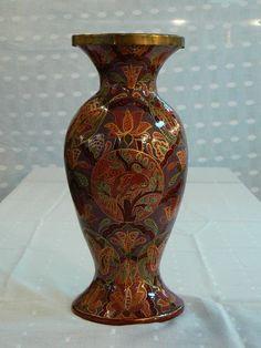 Papel mache artesanal obras de arte pintadas à mão vaso de flor