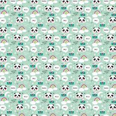 Panda kawaii fabric by tiboud'papier on Spoonflower - custom fabric
