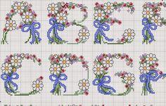 Bordados, Cientos de Trabajos y patrones de punto de cruz de Todo tipo, Libres alfabetos flores de punto de cruz