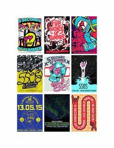 5sos ROWYSO Tour 2105 Posters Europe   5sos<3