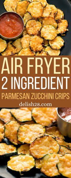 AIR FRYER 2 INGREDIENT PARMESAN ZUCCHINI CRISPS