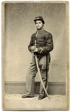 Orlando Kirtland Axtell by Anson of New York City. Axtell began his military service in 1861 for a yearlong stint as a musician in the band of the First New York Infantry. In September 1862, he posed for this portrait after his enlistment as a bugler in the First New York Mounted Rifles. In July 1865