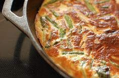 Ramp, asparagus and ricotta frittata...just saw some ramps at WF today and have some goat cheese in the fridge...brunch on Sunday!
