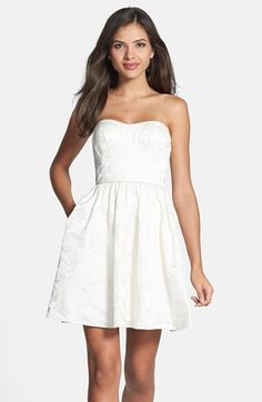 Aidan Mattox Jacquard Fit & Flare Dress available at #Nordstrom