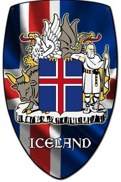 Vintage and Retro Tin Signs - JackandFriends.com - Iceland Shield Custom Shape Metal Sign 21 x 32 Inches, $94.98 (http://www.jackandfriends.com/iceland-shield-custom-shape-metal-sign-21-x-32-inches/)