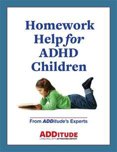 Adhd homework strategies