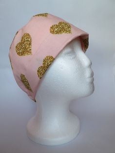 Scrub Hat Nurses Theatre Cap  Pink Printed with by SnazzyScrubHats