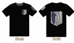 Shingeki no Kyojin Attack on Titan Scouting Legion Black Cosplay Costume T-shirt limit (please email us your size after buying--Cosmile) xcoser