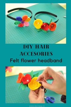 Follow the steps in our latest tutorial and enjoy wearing your own beautiful headband. Diy Craft Projects, Diy Crafts, Felt Diy, Felt Flowers, Diy Hairstyles, Creative, How To Make, Inspiration, Beautiful