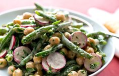 Warm Chickpea and Green Bean Salad With Aioli