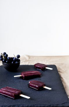 concord grape + lemon zest popsicles