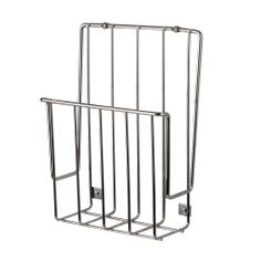 Oh I could use a few of these for both foil, wrap and storage bags. Great idea.  Spectrum Chrome Kitchen Mounted Organizer Wrap Aluminum Foil Cabinet Holder Rack