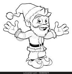Monochrome Christmas drawing of happy Santa smiling and waving Christmas Drawing, Prompts, Monochrome, Santa, Drawings, Happy, Fictional Characters, Ideas, Christmas Design